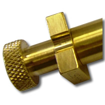 Brass Coil Winding Mandrel assembly for electronics.